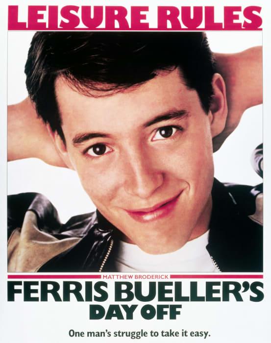 MATTHEW BRODERICK POSTER FERRIS BUELLER'S DAY OFF (1986)