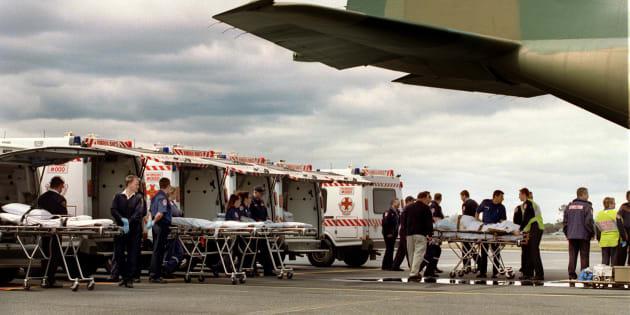 Bali Bombings patients arrive in Darwin in