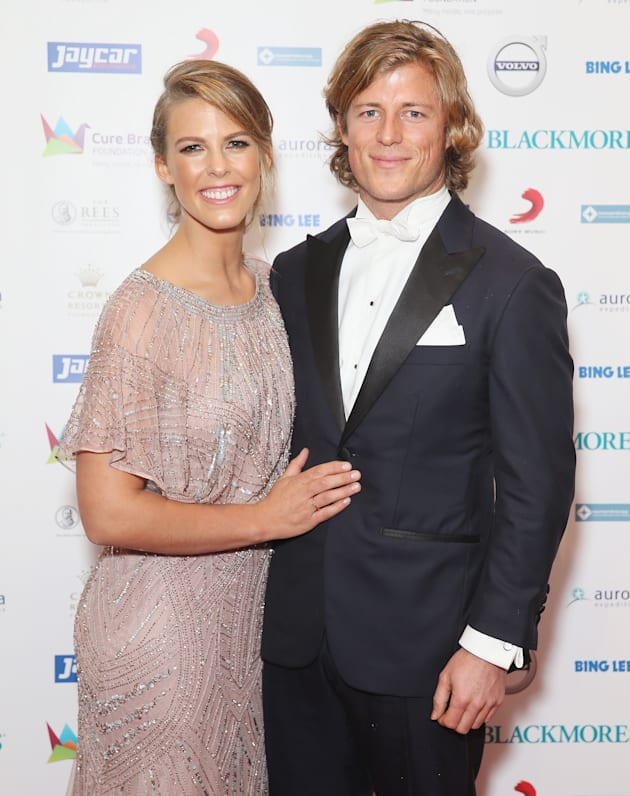 Torah and Angus at a Cure Brain Cancer Foundation