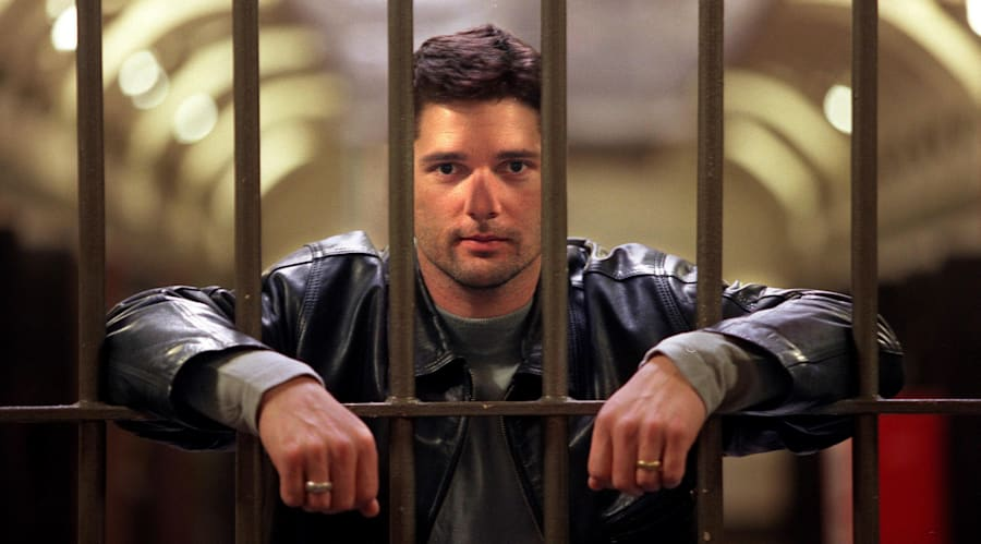 Actor Eric Bana in Pentridge Prison, where he filmed 'Chopper' in 2000, a few years after the prison