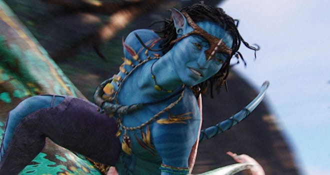 AVATAR 2009 TCF film with Zoe Saldana as Neyiri