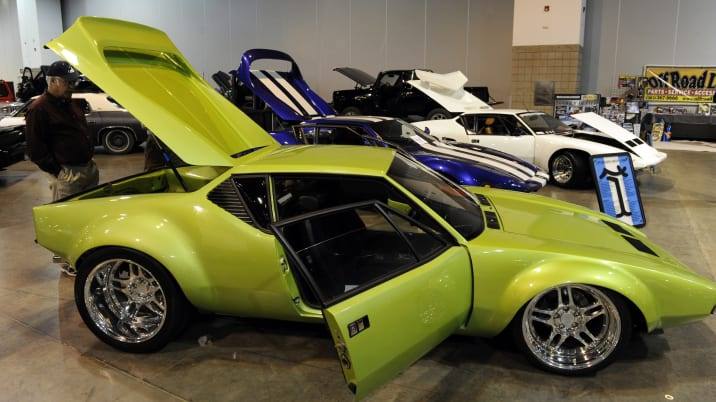 A 1972 DeTomaso Pantera on display at the 15th annual Rocky Mountain Rod and Custom Car Show at the Colorado Convention Center F