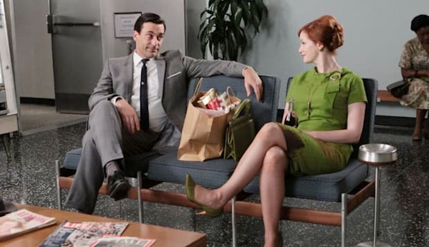 MAD MEN  AMC TV series with Don Draper and Joan Harris