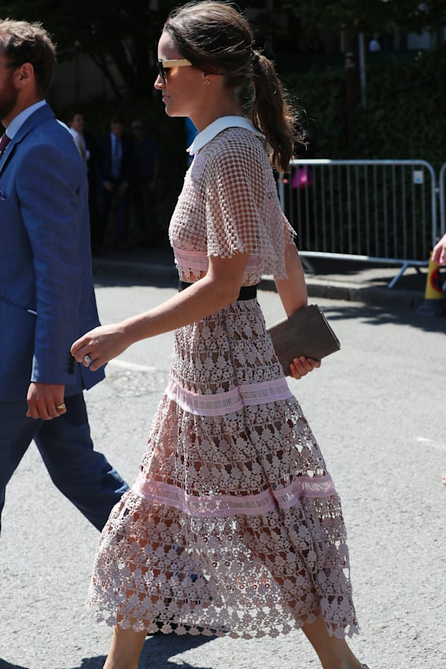 Pippa Middleton arrive à Wimbledon le 5