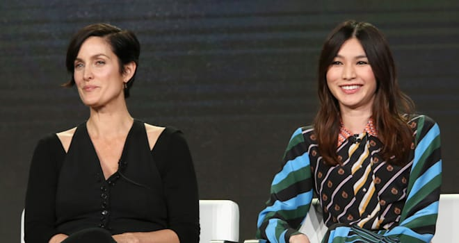 'Humans' Stars Carrie-Anne Moss & Gemma Chan on How Their Roles Are Driven by Love
