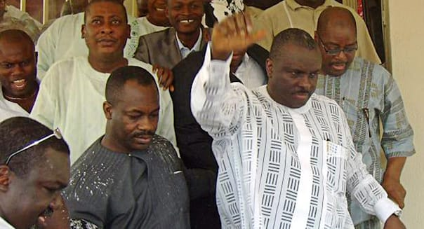 Former governor of oil-rich Delta State James Ibori