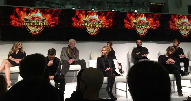 hunger games mockingjay press conference