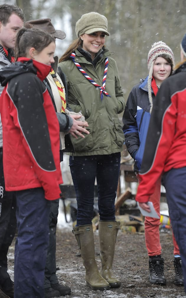 Kate Middleton visits the scouts