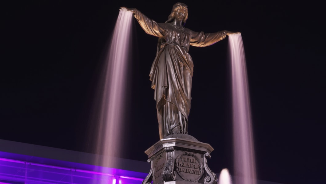 Genius of Water statue