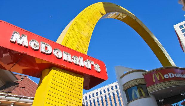 LAS VEGAS, NEVADA, USA - OCTOBER 20 :  McDonald's Restaurantl on October 20, 2013 in Las Vegas,