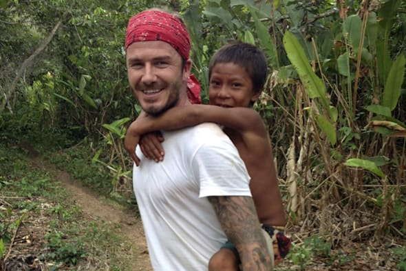 David Beckham escapes fame and find an entire village of people in the Amazon rainforest who have no idea who he is.