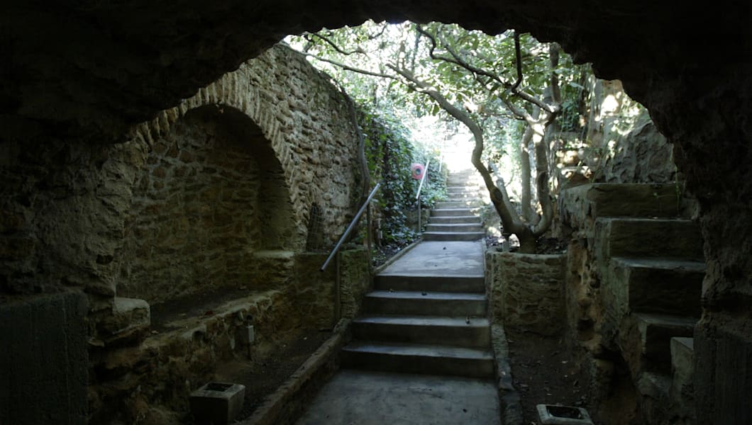 The entrence to the Forestiere Underground Gardens built by Baldasare Forestiere in Fresno. When For