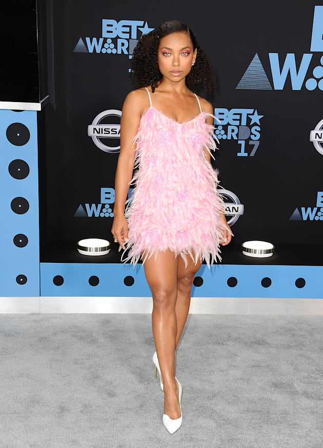 Actress Logan Browning attends the 2017 BET Awards at Microsoft Theater on June 25, 2017 in Los Angeles,...
