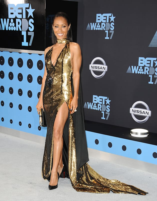 Actress Jada Pinkett Smith attends the 2017 BET Awards at Microsoft Theater on June 25, 2017 in Los Angeles,...