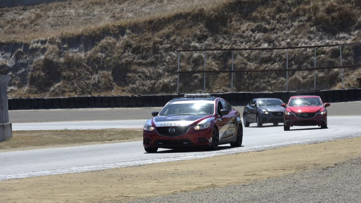 Mazda G-Vectoring Control demonstration at Mazda Raceway Laguna Seca