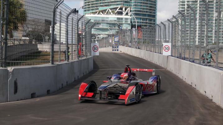 Miami Formula E virgin team car