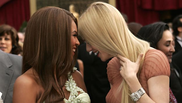 Singer Beyonce Knowles and actress Gwyne