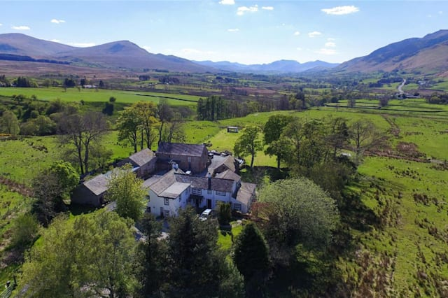 Aerial view of the guest house