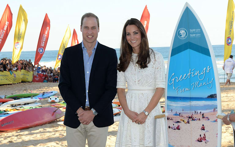 See more from William & Kate's day on the beach