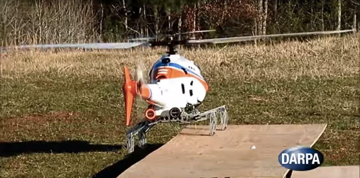 DARPA 的遙控直昇機長出腿了!