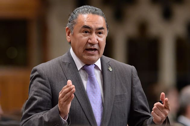 NDP MP Romeo Saganash asks a question during Question Period in the House of Commons in Ottawa on June...