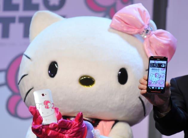 TAIWAN-TELECOM-HTC-HELLO KITTY