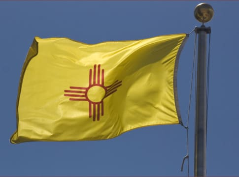 New Mexico State Flag -- The Capitol Santa Fe (NM) 2013