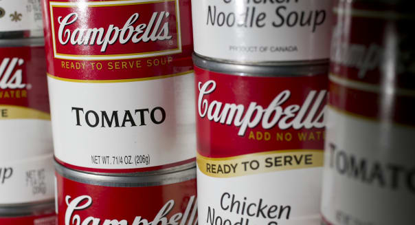 General Views Of Campbell Soup Co. Products Ahead Of Earns