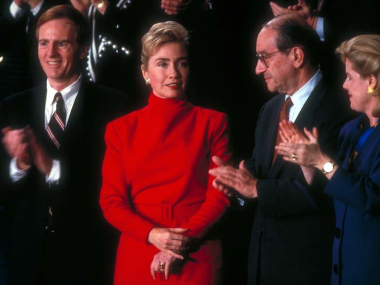Hillary Clinton Listening to Presidential Address