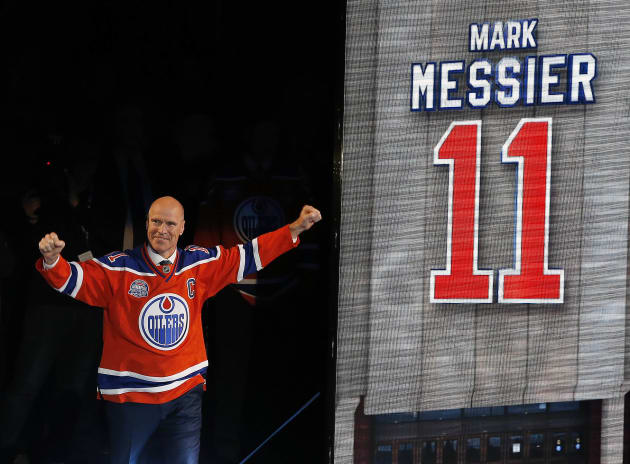 Ex-Oiler Mark Messier replaces David Bauer and Montreal Canadiens great Maurice