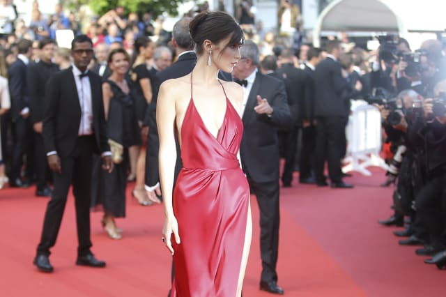 46a9f38530b905 France Cannes La Fille Inconnue Red Carpet Bella Hadid made sure all ...