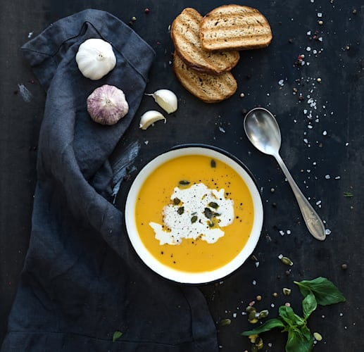Pumpkin soup is always a good