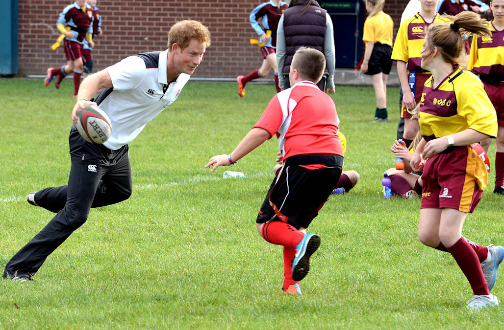Prince Harry at Eccles Rugby Club - 10/20/14
