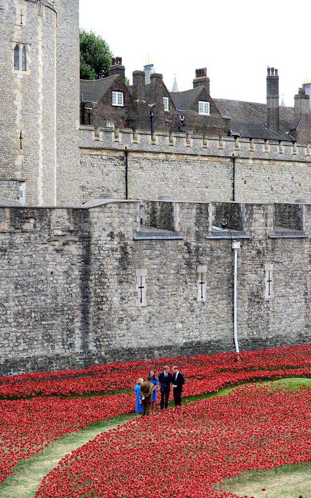 Kate William and Harry at the Tower of London Poppies