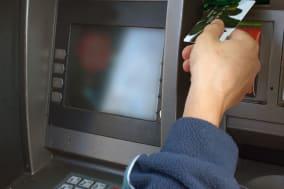 Cash dispenser or ATM, input credit card