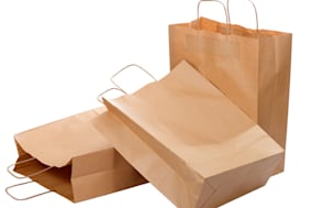 three ecological paper bags