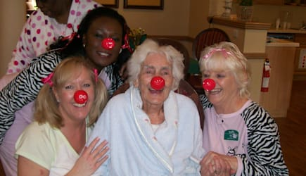 Residents and staff of Sunrise Senior Living of Cardiff