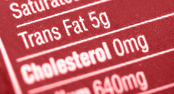 nutritional label with focus on ...