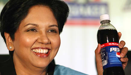 Indian CEOs (** FILE ** PepsiCo President and CEO Indra Nooyi addresses her first ever press conference in India, in New Delhi,