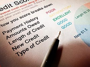 Credit score chart low bad negative bad credit number 615 low credit score paper document breakdown credit history impact paymen