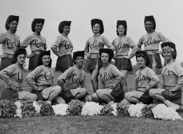 The Baltimore Colts' cheerleaders are seen in this file phot