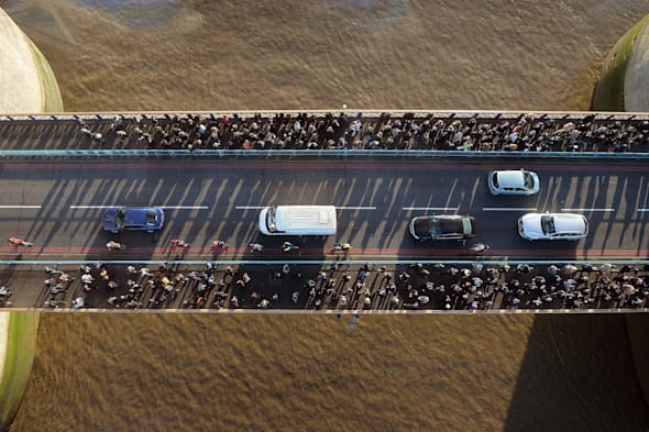 Tower Bridge glass floor unveiled