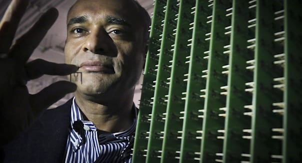 TV on the Internet (In this Thursday, Dec. 20, 2012, photo, Chet Kanojia, founder and CEO of Aereo, Inc., stands next to a serve