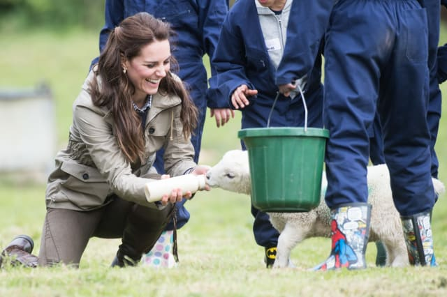 The Duchess Of Cambridge Visits Farms For City Children
