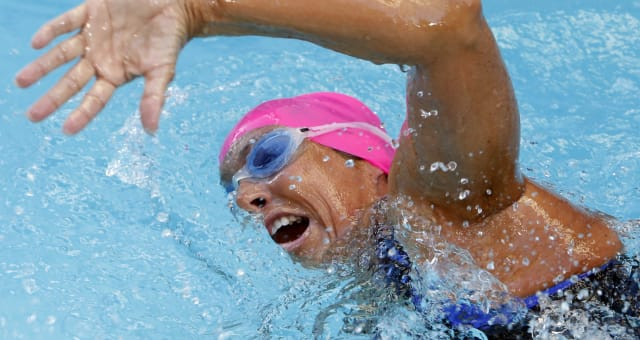 Nyad Manhattan Marathon (Long-distance swimmer Diana Nyad, who recently completed a record-breaking swim from Cuba to Florida, c