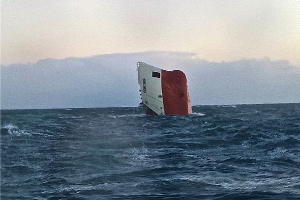 8 missing after ship sinks off Scotland