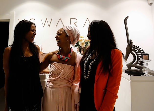 Swaady Martin-Leke (centre) is building a global luxury business,