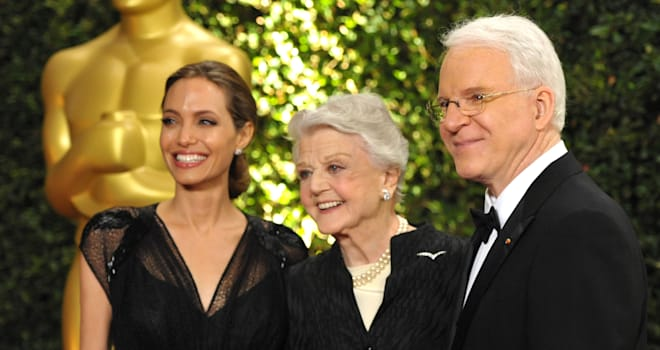 Angelina Jolie, Angela Lansbury, and Steve Martin at the 2013 Governors Awards