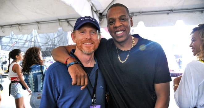 Ron Howard and Jay-Z