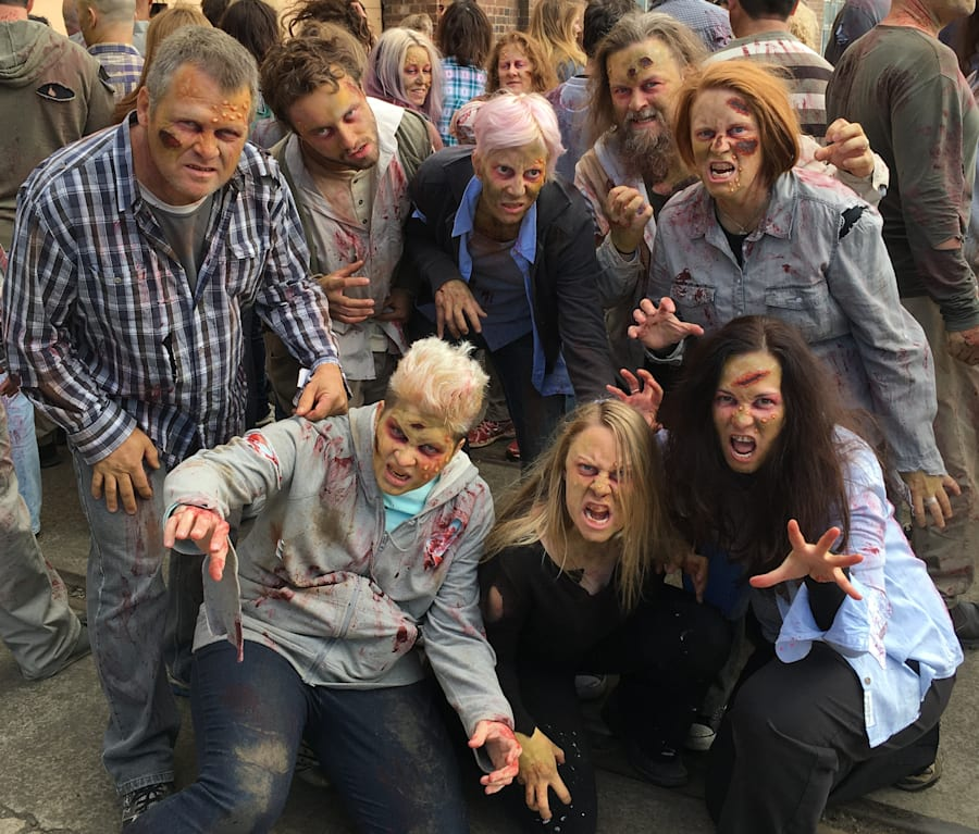 Hanging out with our zombie brethren was one of the day's